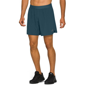 "asics Road 7"" Shorts Men magnetic blue"